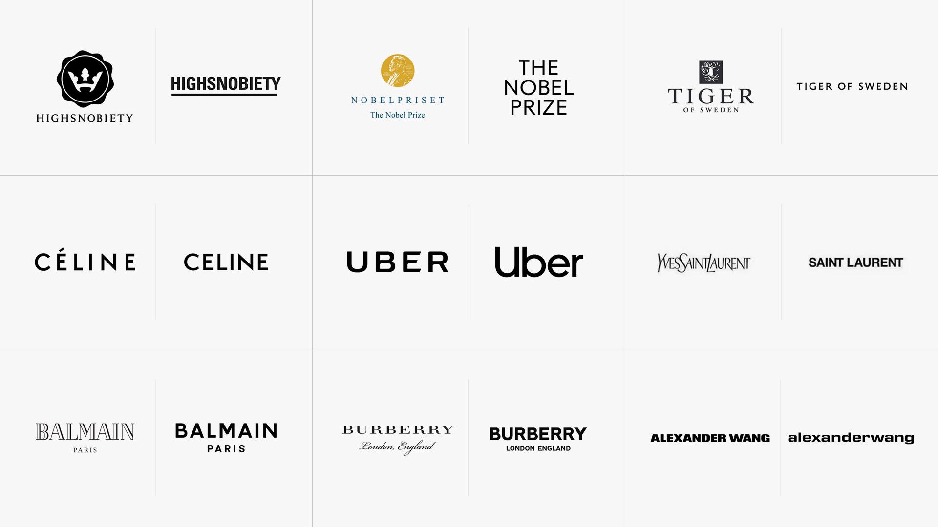 Re-branding: i big della moda a confronto